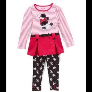 Nannette Pink & White Stripe Dog Tunic & Pants